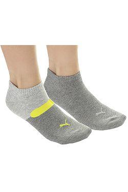 ponožky Puma 273003001 Sneaker Taping 2 Pack - Gray Yellow ... 18112e457b