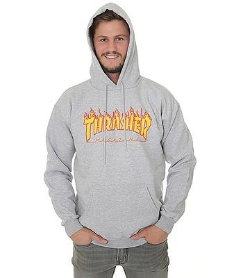 mikina Thrasher Flame Logo - Gray - snowboard-online.sk 3aa40fcc5b0