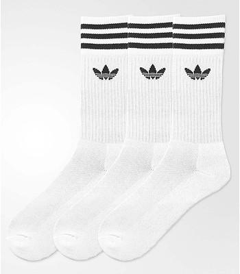 ponožky adidas Originals Solid Crew Sock 3 Pack - White Black -  snowboard-online.sk cb0d473bb1