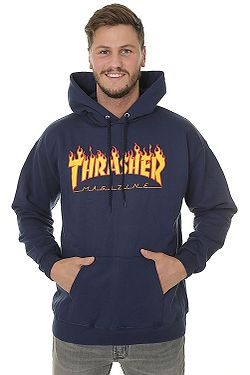 mikina Thrasher Flame Logo - Navy Blue