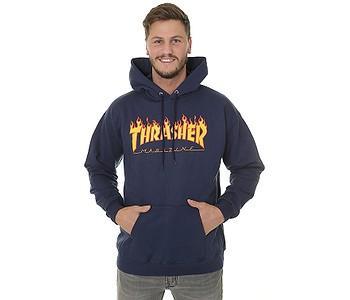 mikina Thrasher Flame Logo - Navy Blue