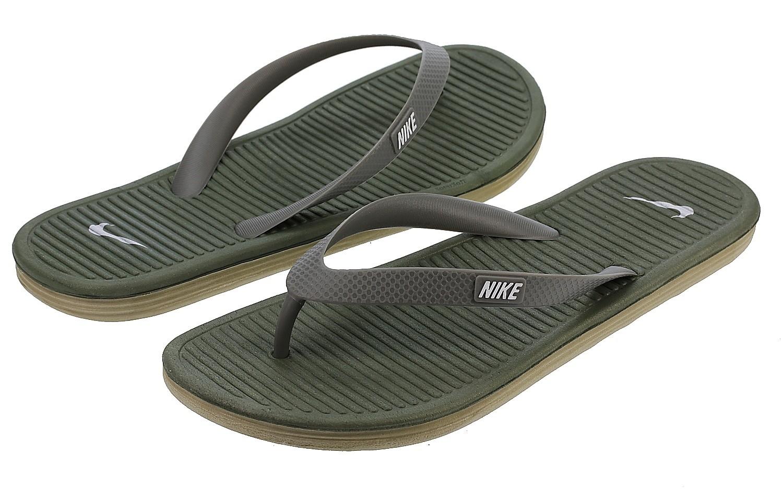 nike olive green flip flops