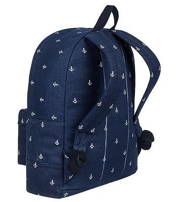 70782dd3c1872 plecak Roxy Sugar Baby Canvas - BTK6/Dress Blue Printed Anchor -  blackcomb-shop.pl
