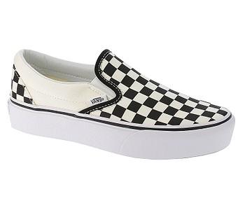 boty Vans Classic Slip-On Platform - Black And White Checker/White