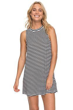 53376626095e šaty Roxy Shiny - WBB3 Bright White Basic Stripe