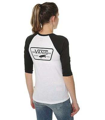 tričko Vans Full Patch Raglan - White Black. SKLADEM -30% b256233c79