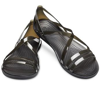 26914181d2b3 boty Crocs Isabella Strappy - Black - boty-boty.cz - doprava zdarma