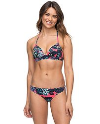 1bb087711 plavky Roxy Salty Molded Tri/Surfer - MLJ5/Rouge Red Mahna Mahna