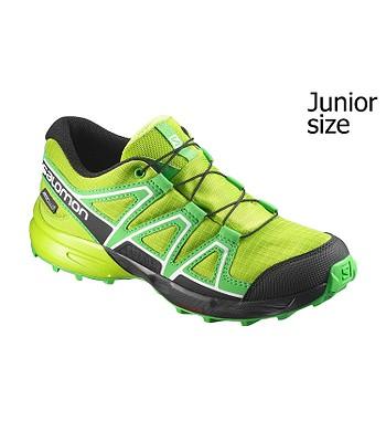 e9fbf793a68 dětské boty Salomon Speedcross CSWP - Lime Green Classic Green Black ...