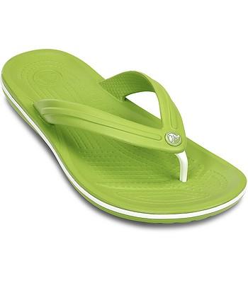 1a9c38f4881f flip flops Crocs Crocband Flip - Volt Green White - snowboard-online.eu