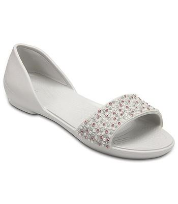 db1aa99c1899 boty Crocs Lina Embellish Dorsay Flat - Pearl White Rose Gold ...
