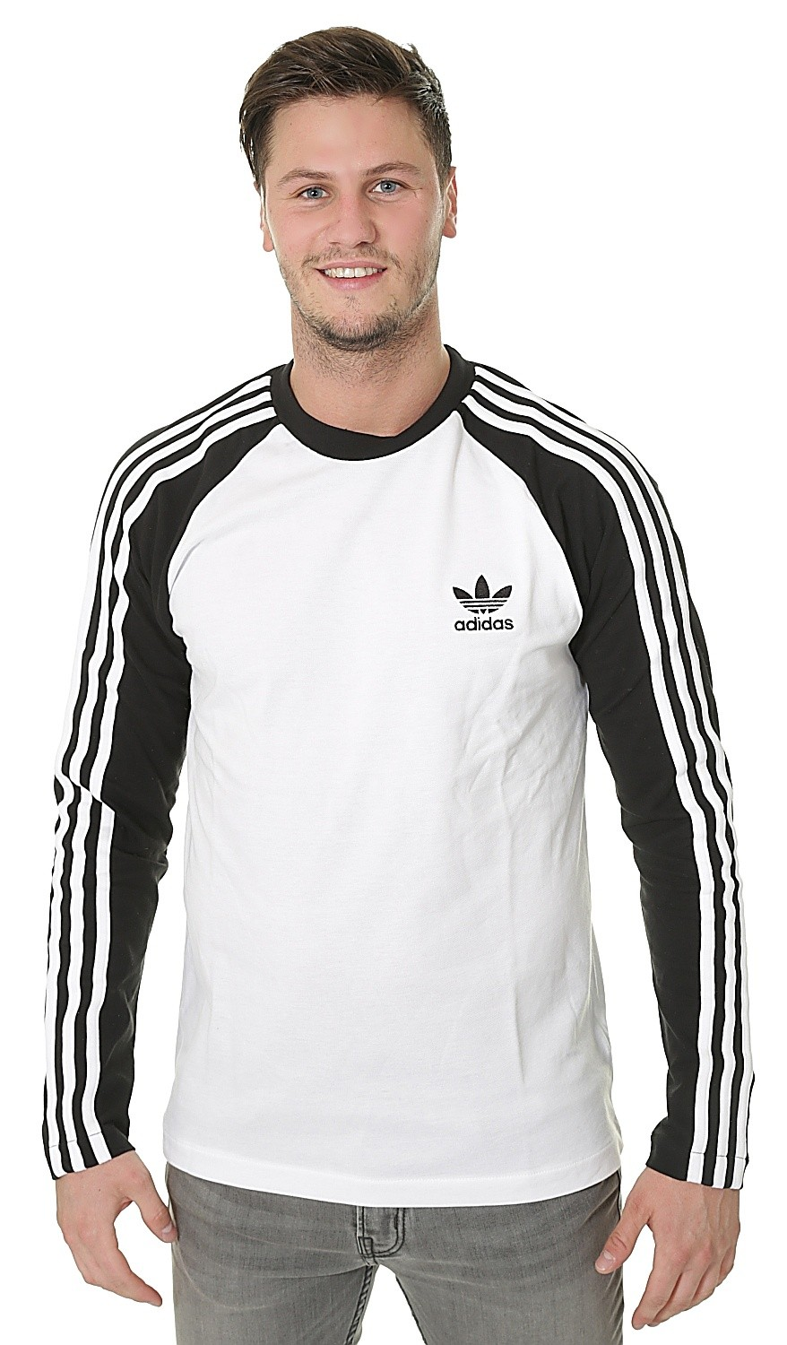 Camiseta adidas Originals 3 Stripes LS snowboard negro