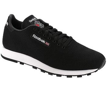 TOPÁNKY REEBOK CLASSIC LEATHER ULTRAKNIT - BLACK WHITE - skate-online.sk b506bd5182a
