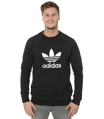 mikina adidas Originals Trefoil Warm-Up Crew - Black  8b216a0074