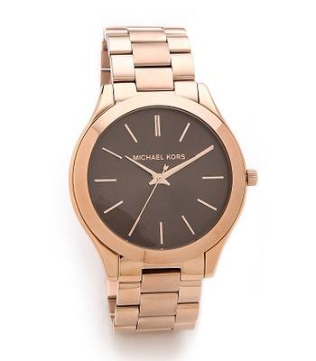 hodinky Michael Kors Slim Runway Rose Gold Tone - Rose Gold ... 95dadb72c33