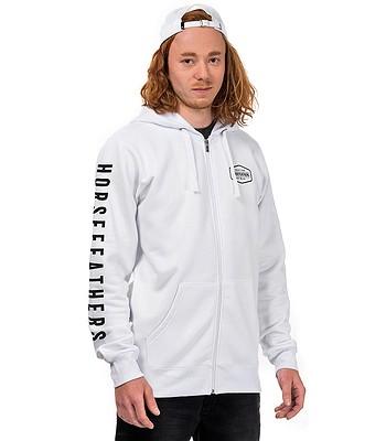 9c51b227b405 mikina Horsefeathers Fort Zip - White - snowboard-online.sk