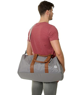 98c7d204e790 bag Herschel Novel Mid Volume - Gray/Tan Synthetic Leather ...