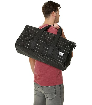 03ead3fc8566 bag Herschel Novel Mid Volume - Black Gridlock - blackcomb-shop.eu