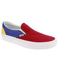 1e5450ed501 boty Vans Classic Slip-On - Vans Yacht Club Red Blue Yellow - boty-boty.cz  - doprava zdarma