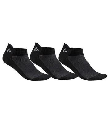 ponožky Craft 1906059 Shaftless 3 Pack - 999000 Black - snowboard ... 29644da89e