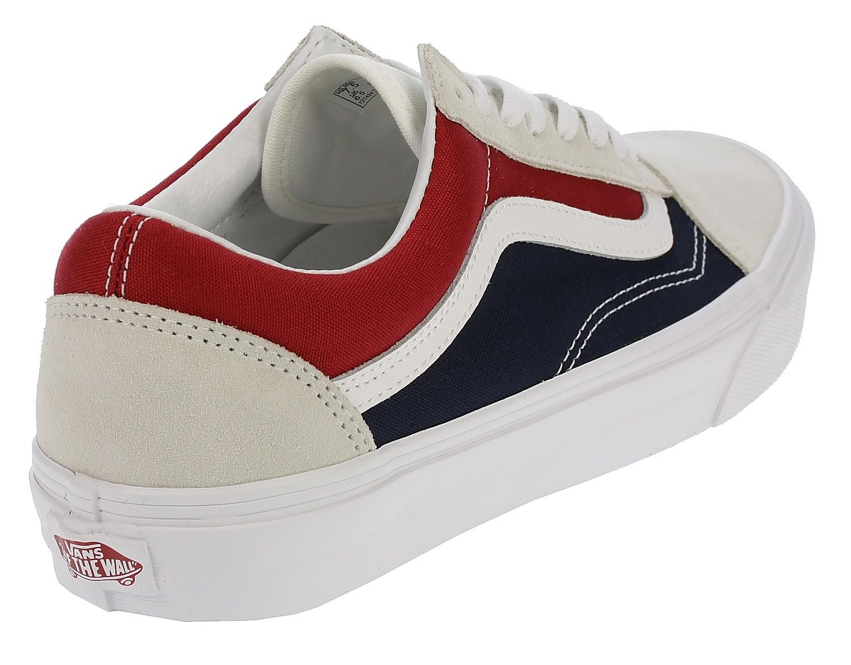 Retro Vans Blues Blockwhitereddress Skool Schuhe Old 13fkjtcl nN0vwOm8