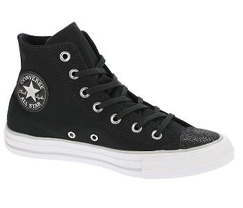 3671963c7b1 boty Converse Chuck Taylor All Star Tipped Metallic Hi - 559885 Black Silver