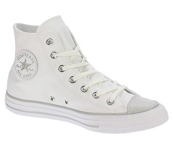 d72780c6086b dámske. topánky Converse Chuck Taylor All Star Tipped Metallic Hi -  559886 White Silver