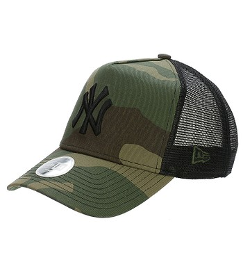 cap New Era 9FO Camo Team Aframe Trucker MLB New York Yankees - Woodland  Camo - snowboard-online.eu e3dfcb1ed45