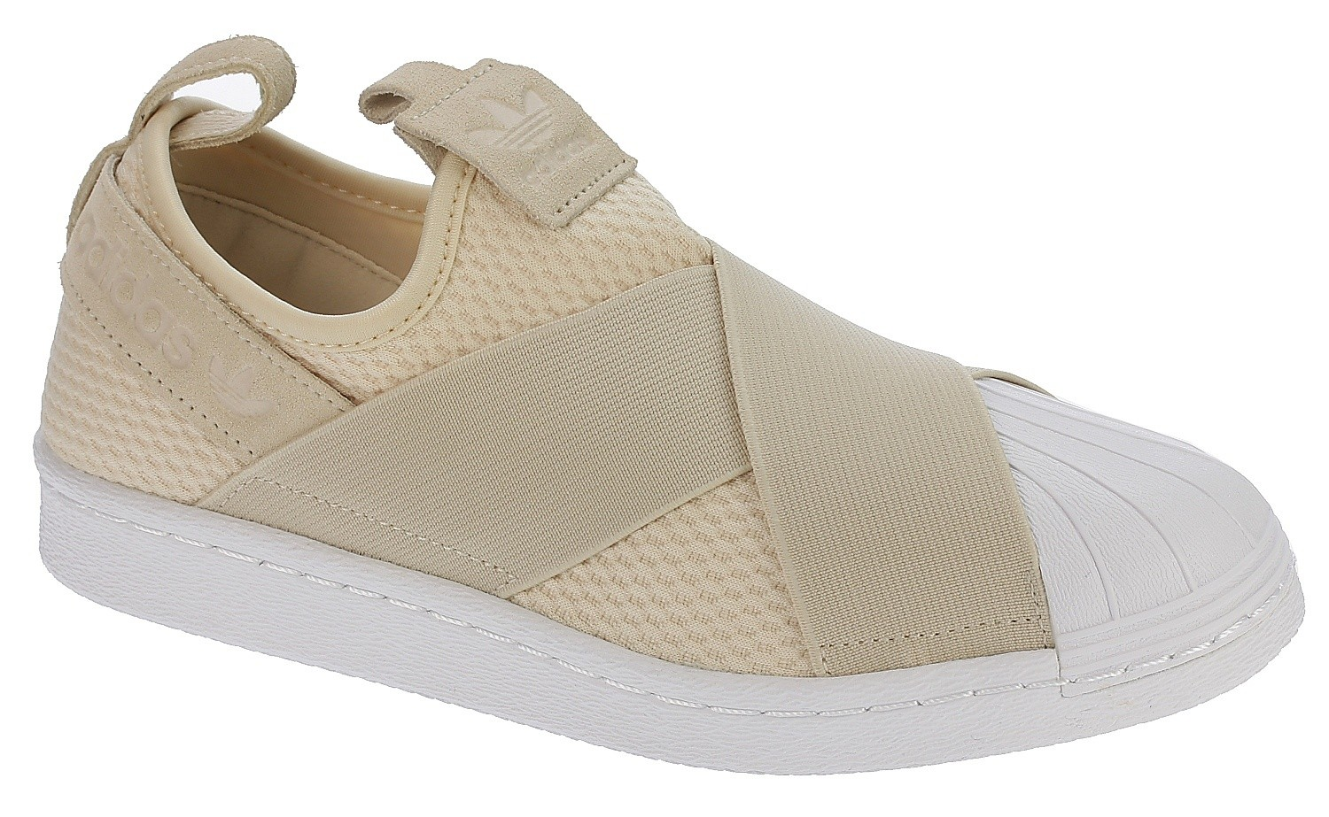 shoes adidas Originals Superstar Slip-On - Linen/Linen/White ...