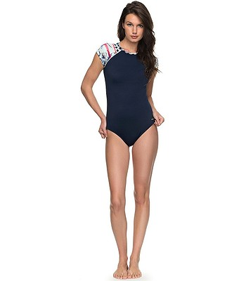 83ecd28f5 swimsuit Roxy Pop Surf Onesie - BTK2/Dress Blues Rain Daze Wet Print ...