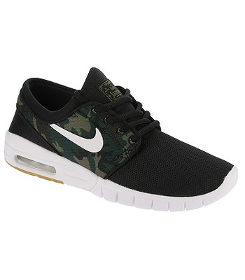 shoes Nike SB Stefan Janoski Max GS - Black White Medium Olive Gum Light  Brown - snowboard-online.eu 591719aec