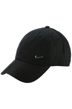 63d90d0f264 kšiltovka Nike Sportswear Heritage86 Metal Swoosh - 010 Black Metallic  Silver ...