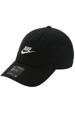 800fcbb82b9 kšiltovka Nike Sportswear Heritage86 Futura Washed - 010 Black Black White  ...