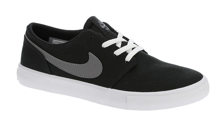 shoes Nike SB Portmore II Solarsoft Canvas - Black/Gunsmoke ...