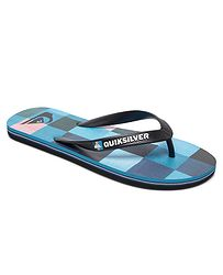8997f034a1 žabky Quiksilver Molokai Resin Check - XKBR Black Blue Red