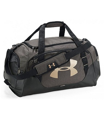 3487e0850ae taška Under Armour Undeniable 3.0 Medium Duffel - 002 Black Full Heather Metallic  Victory Gold