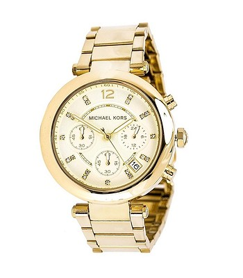 hodinky Michael Kors Parker Chronograph - Champagne Gold - snowboard ... 806358a2d26
