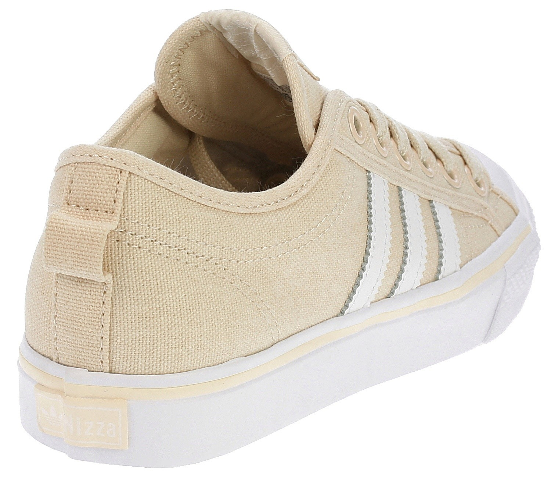 scarpe adidas originali nizza / bianco / blackcomb bianca di lino