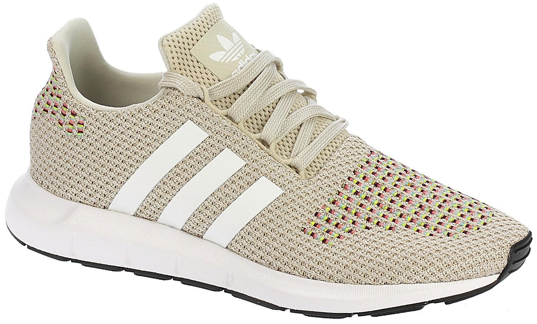 scarpe adidas originali swift run chiaro marrone / bianco / cuore nero