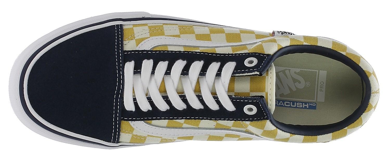 Vans Old Skool Pro NavyYellow checker, Men's Fashion