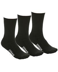6b2c39bc6 ponožky Urban Classics Logo Sport 3 Pack/TB2158 - Black