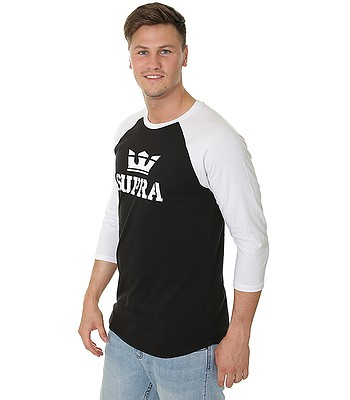 tričko Supra Above Premium Raglan - Black White - snowboard-online.sk 9a63a7aa0fd