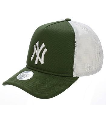 679049b9699 kšiltovka New Era 9FO League Essential Trucker MLB New York Yankees - River  Green White
