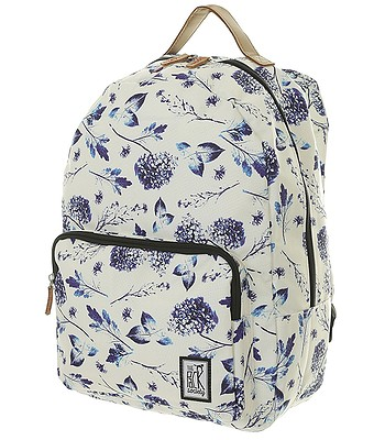 82612839a3202 backpack The Pack Society 181CPR702 - 72 Off White Blue Flower -  snowboard-online.eu