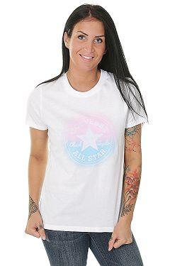 tričko Converse Ombre Chuck Patch Crew 10006034 - A02 White b1d5eab4fa