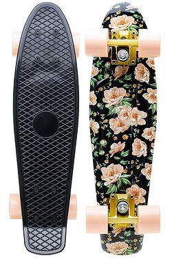 5131d96a4ff longboard Cool Slide Rosie - Roses Print Black