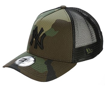 kšiltovka New Era 9FO Clean Trucker MLB New York Yankees - Woodland Camo/Black
