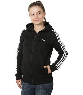 sweatshirt adidas Originals 3 Stripes Zip - Black - women´s -  snowboard-online.eu 3038c38d3b4