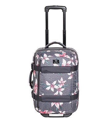 897d6b226c suitcase Roxy Wheelie 2 - KPG6 Charcoal Heather Flower Field - women´s -  snowboard-online.eu