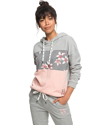 3eaa4ce561 mikina Roxy Inside Cocoon Fleece - KPG6 Charcoal Heather Flower Field